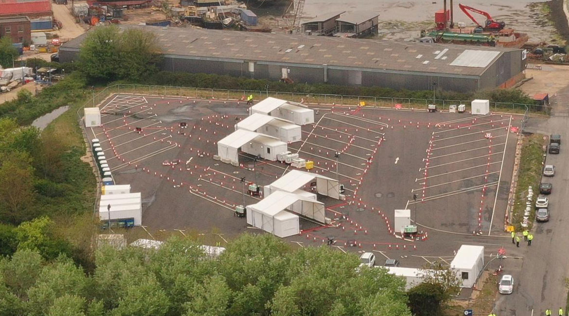 SVS traffic solution for Covid test centre